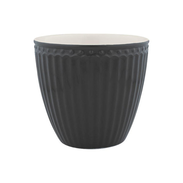 Latte Cup Alice Dark Grey von Greengate