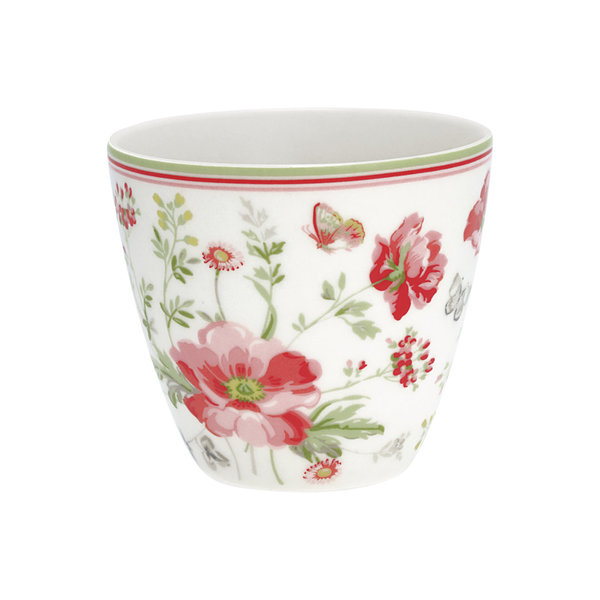 Latte Cup Meadow White von Greengate
