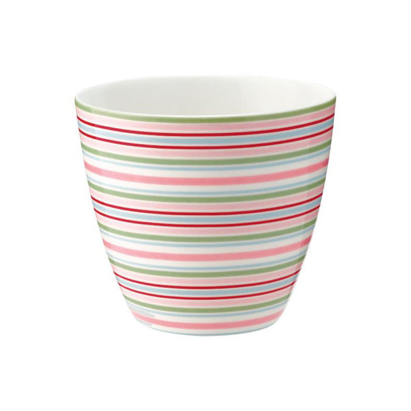 Latte Cup Silvia Stripe White von Greengate